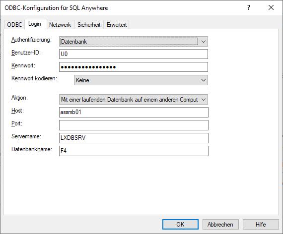 Login Konfiguration ODBC 64 bit für Lexware Datenbankzugriff